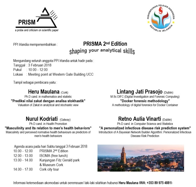 PPI Irlandia event PRISMA 2nd 2018 poster