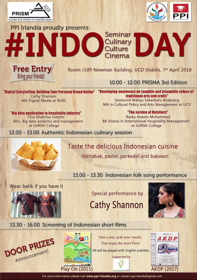 IndoDay poster PPI Irlandia 7 April 2018